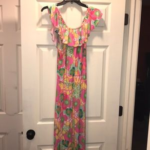 Lilly Pulitzer Off the shoulder floral Maxi Dress